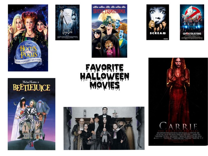 FAV. HALLOWEEN MOVIES